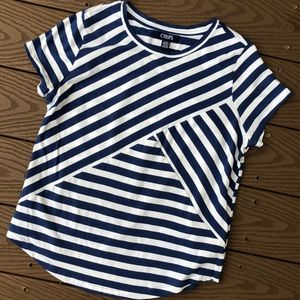 Chaps Blue/white striped T-shirt